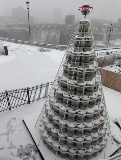 The ultimate Christmas tree is made of 300 beer kegs
