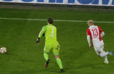 Manuel Neuer has been up to his old tricks this afternoon as he makes a sliding tackle 30 yards from goal
