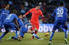 Lionel Messi in no-goal shocker as Barcelona held to disappointing draw with Getafe