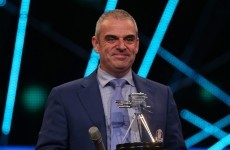 Ireland's Paul McGinley claims Coach of the Year at the BBC's SPOTY awards