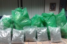 Cannabis worth almost €700k found in bags at Clare house this afternoon