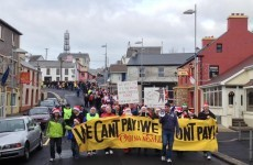 Anti-water charge protests in Dublin and Donegal