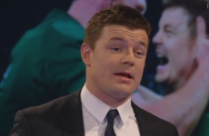 Brian O'Driscoll held back tears after receiving a surprise Hall of Fame award last night