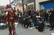 Iron Man was disco dancing on Grafton Street yesterday