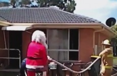 Santa Claus* saved a man from a burning building