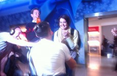 Irish guy proposes to his American girlfriend as she arrives in Ireland for Christmas