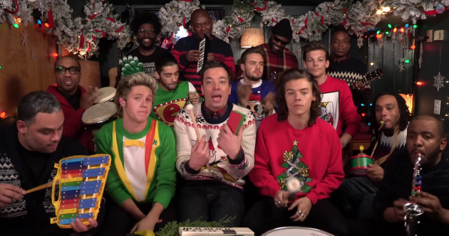 Here's one way to sell a few Christmas jumpers – get 1D to wear them on US national TV