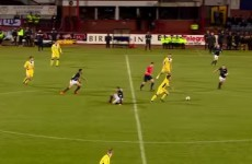 Scottish teenager runs from his own half to score sensational individual goal