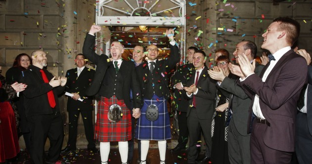 Pics: Scotland welcomes its first same-sex weddings