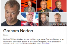 Something seems a bit off in Graham Norton's Google biography…