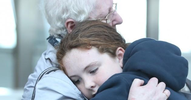Photos: Sad scenes at Dublin Airport as Irish emigrants say goodbye