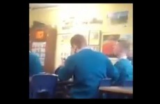 Irish lads trick their teacher into saying one hundred and eighty, the obvious ensues