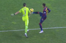 Neymar tried a Georgie Best last night … and got booked for it