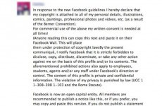 Don't share that Facebook 'copyright' post, it's nonsense