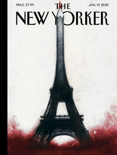 Everyone is sharing the New Yorker's wonderful cover tribute to Charlie Hebdo