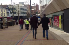Two straight men held hands in public to highlight homophobic attitudes