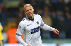 Eidur Gudjohnsen scored his first Bolton goal today since Maniac 2000 was a smash hit