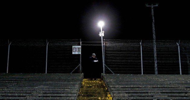 Hats off to this die-hard supporter who showed up for tonight's O'Byrne Cup clash