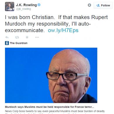 JK Rowling just took Rupert Murdoch down a peg in one fell swoop