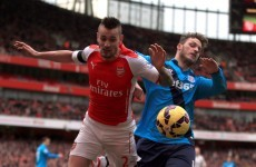 Debuchy faces spell on sidelines after Arnautovic shoves defender into advertising boards