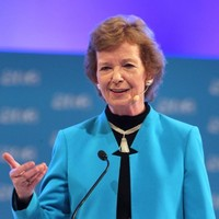 Mary Robinson is back in town ... to discuss Ireland's recovery