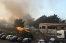 Container fire at business park near Naas Road