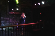 Heavily pregnant Irish woman does stand up comedy and completely rocks it