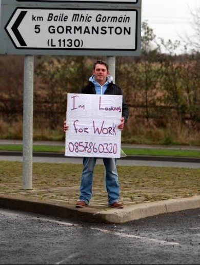 Remember Sean --- the guy standing by the roadside looking for work? Well, good news...