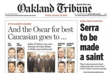 Newspaper brilliantly trolls Oscars for lack of diversity in yesterday's nominations