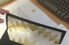 Here's what it looks like when you get an Oscars invite in the post