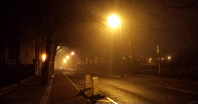 Careful, it's fierce foggy out...