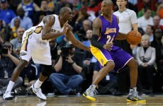 Kobe Bryant injured his right shoulder - so he came back on and played left-handed instead
