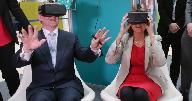 Enda Kenny and Joan Burton were given a serious dose of (virtual) reality today