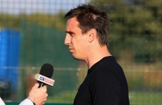 Gary Neville involved in angry Twitter war of words with Stan Collymore