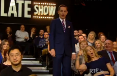 Someone was incredibly excited to be in the Late Late Show audience last night...