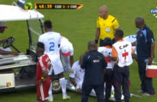 The medical cart driver at the AFCON deserves 4 penalty points for almost parking on a player