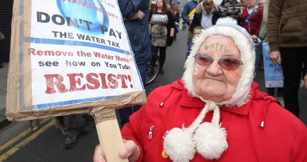 Missed last night's water charge deadline? No problem, it seems