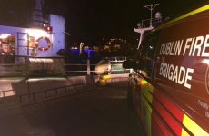 Dublin Fire Brigade rescue crewman after fall at Howth