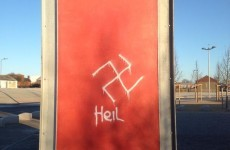 Nazi graffiti found on sign in Ballymun