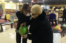 Coolest granny ever gets a strike the very first time she tries bowling