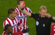 Dutch football had the quickest sending off in its history last night
