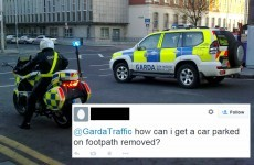 The Gardaí were caught rapid on Twitter last night