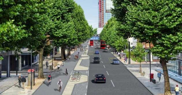London just approved a new plan for 'cycle superhighways' – here's what they look like