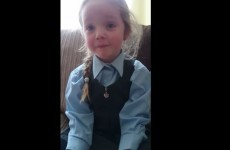 Little Dublin girl finds out her mam is pregnant, cries happy tears