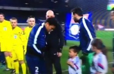 Thiago Silva shows his class by coming to the rescue of freezing Lyon mascot