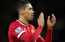 Chris Smalling is on a hat-trick as Man United lead Burnley