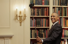 Obama uses selfie stick in the soundest presidential carry on ever