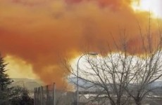 Toxic orange cloud covers towns near Barcelona after chemical blast