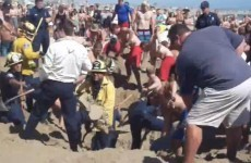 Watch: Teenager buried alive at the beach