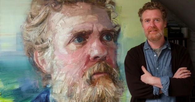 Bidding for this epic painting of Glen Hansard has hit €17,500